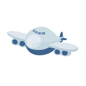 Плоский дизайн иллюстрации деформированного самолета изолирован