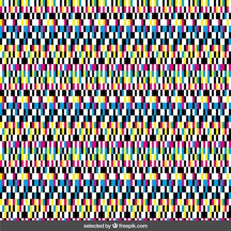 Deformed colorful pixel background