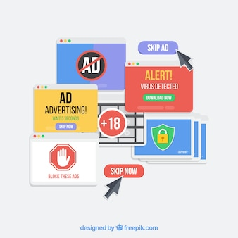 Внедрение рекламного блока с плоской deisgn
