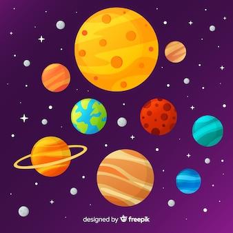 Классическая схема солнечной системы с плоской deisgn