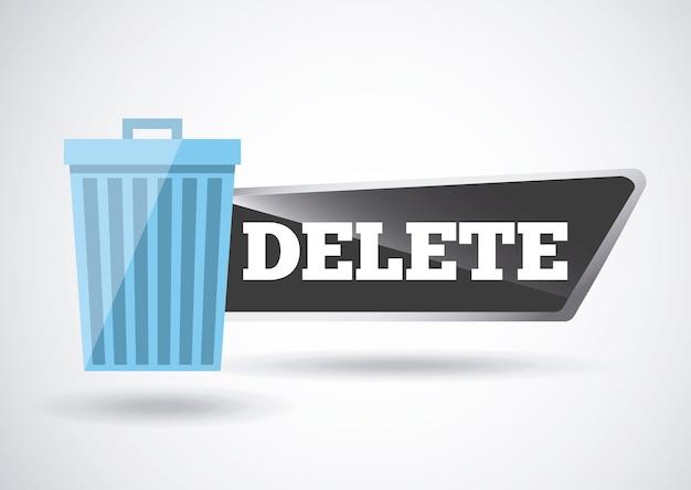 Delete button design