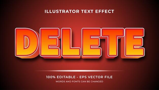 Удалить эффекты стиля редактируемого текста