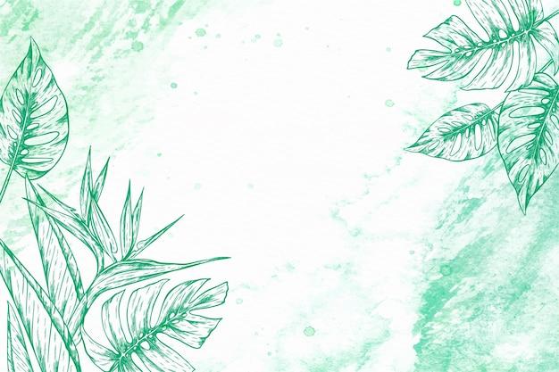 Delicate botanical design illustration frame