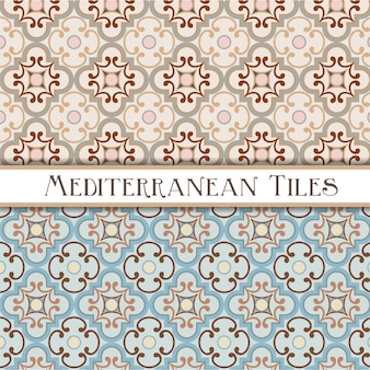 Delicate colors geometric mediterranean patterns