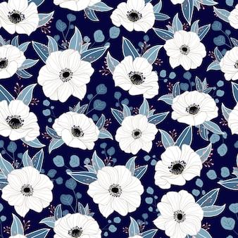 繊細なシームレスな花柄
