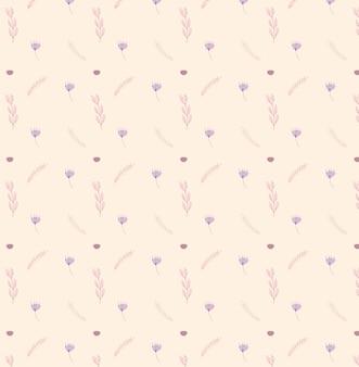 섬세한 꽃 패턴