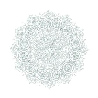 Delicate green lace mandala pattern in boho style