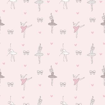 Delicate pattern of ballerina