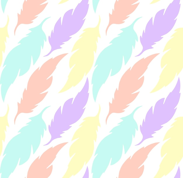 화려한 투명 깃털이 있는 섬세한 패턴