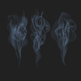 Delicate realistic smoke, fog or mist waves transparent effect.