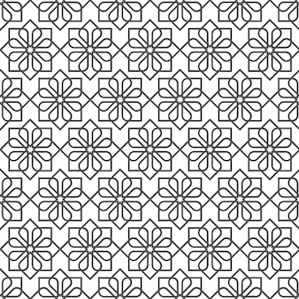 Delicate seamless pattern in oriental style - variation 1
