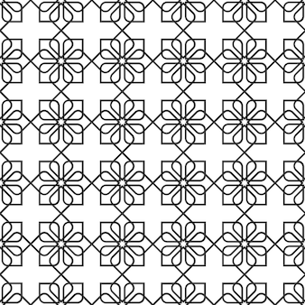 Delicate seamless pattern in oriental style - variation 2