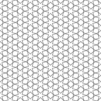 Delicate seamless pattern with stars - arabic style