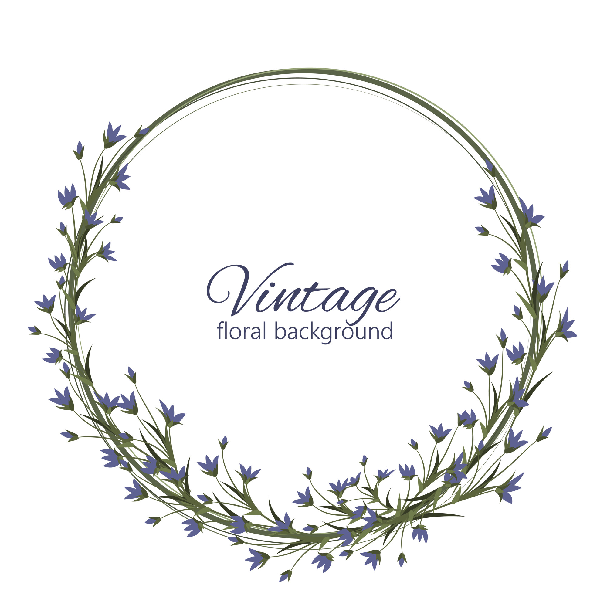Delicate wedding floral vector design frame