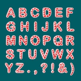 キャンディケインのおいしいアルファベット文字