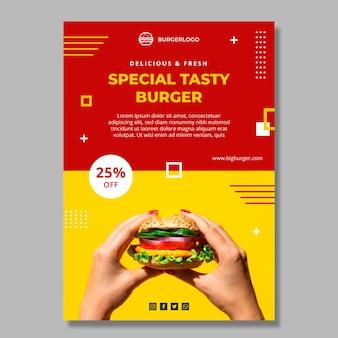 Modello di poster di cibo americano delizioso