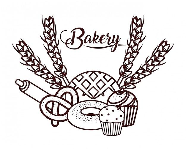 Delicious bakery cartoon