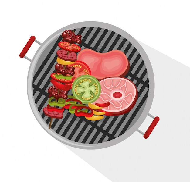Delicious barbecue food icon