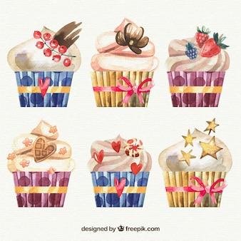 Delicious birthday muffins