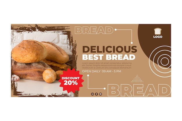 맛있는 빵 배너 개념