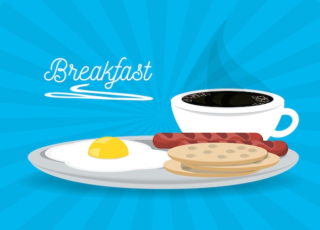 Delicious breakfast dish menu restaurant