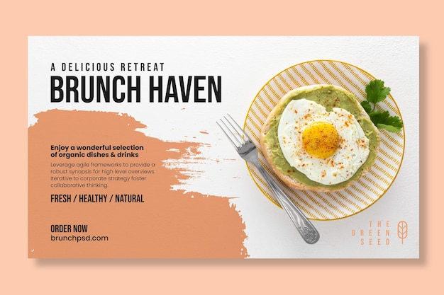Delicious brunch banner template