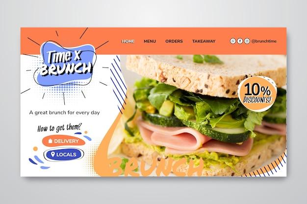 Pagina di destinazione del brunch delizioso