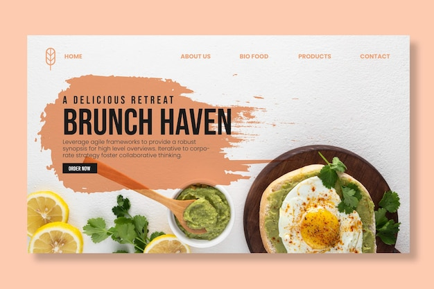 Delicious brunch landing page