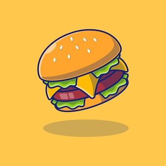 Вкусный гамбургер векторные иллюстрации дизайн