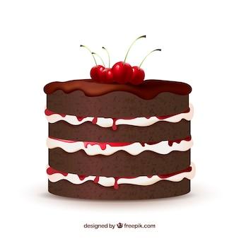 現実的なスタイルのおいしいケーキ