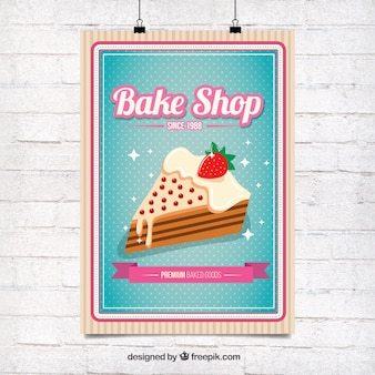Delicious cake poster