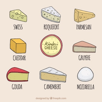 Delicious cheeses selection