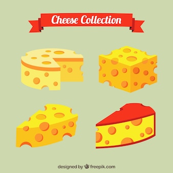 Delicious cheeses to taste