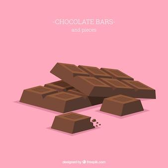 おいしいチョコレートバーのコレクション