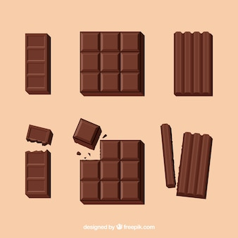 Delicious chocolate bars collection
