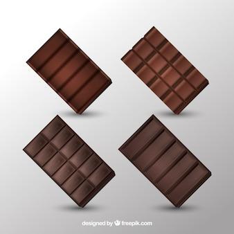 Deliziosa collezione di barrette di cioccolato