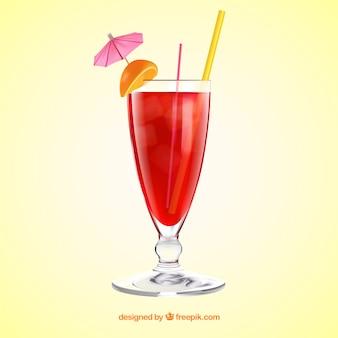Delizioso cocktail in stile realistico