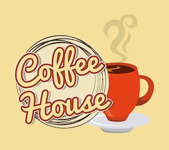 вкусный дизайн кофе, векторная графика eps10 graphic
