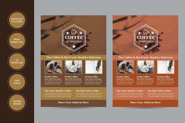 Delicious coffee shop flyer template