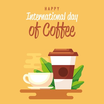 コーヒーのカップの日に行くおいしいコーヒー