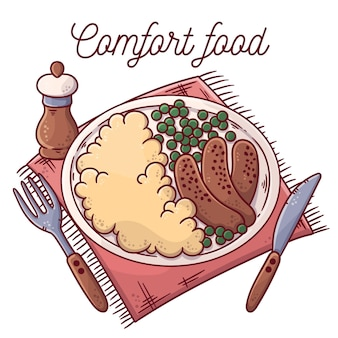 Delicious comfort food concept