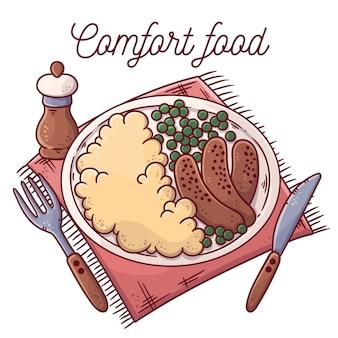 Delicious comfort food concept
