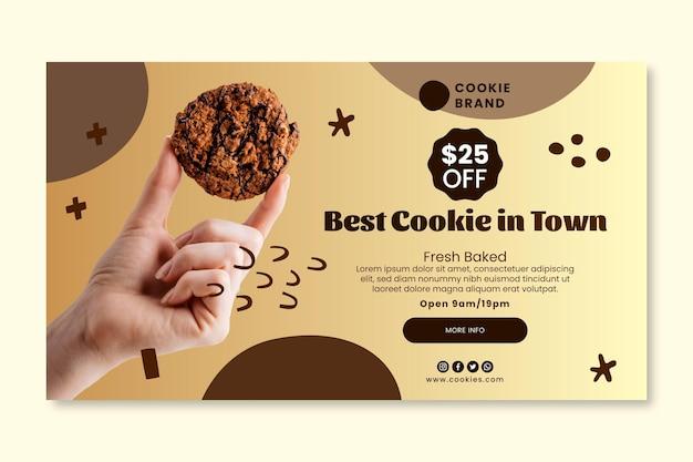 Modello di banner di biscotti deliziosi