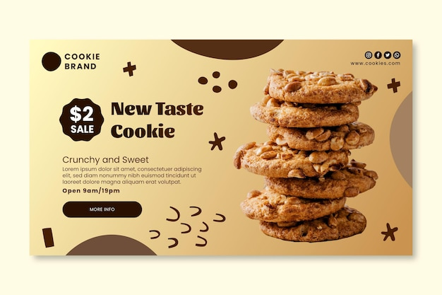 Delicious cookies banner template