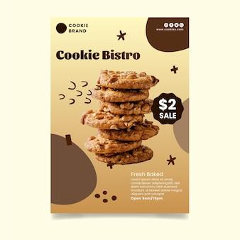Шаблон флаера вкусное печенье