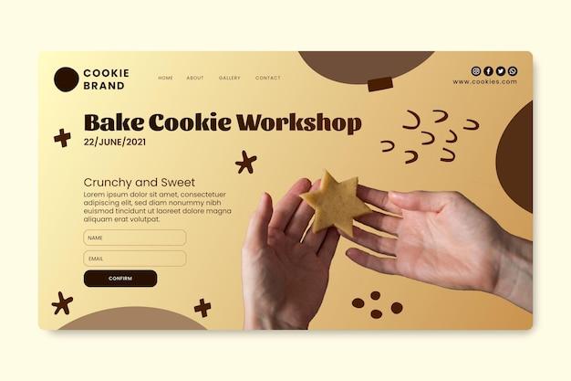 Modello di pagina di destinazione dei biscotti deliziosi