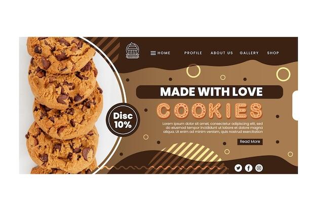 Шаблон целевой страницы вкусных файлов cookie