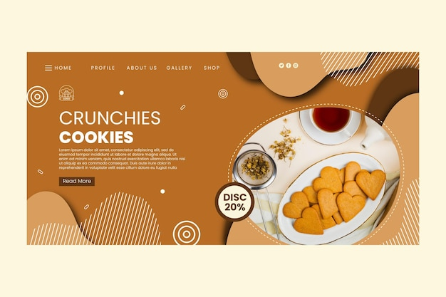 Delicious cookies landing page template