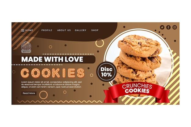 Pagina di destinazione dei biscotti deliziosi