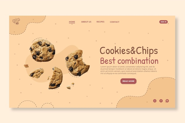 Delicious cookies landing page
